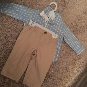 Never worn 3/6 month cute baby boy outfit ✨